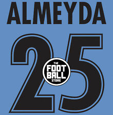 KIT NAMESET ALMEYDA X MAGLIA LAZIO HOME 99-00 NO MATCH WORN ISSUED SHIRT TRIKOT