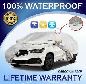 100% Weatherproof Full SUV Cover with Door Zipper For Acura MDX [2001-2020]