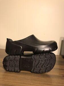 Birkenstock Unisex Black Professional Slip On Clog SR,PU Shoes Wmn 9 Men 7