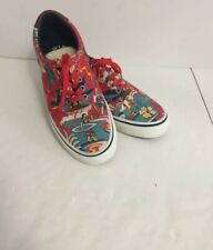 Polo Ralph Lauren Authentic Mens Hawaii Aloha Print Thorton III Shoes Size 7.5