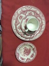 Johnson Brother Red Castles 19 Pc Dinnerware Set Pink