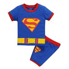 Summer Boys Kids Superhero 2PCS Short Sleeve Pajamas Set Nightwear Sleepwear New