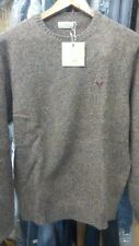 Maglione lana merino  extrafine AVIREX  tg disp. L, XL, XXL  marrone melange