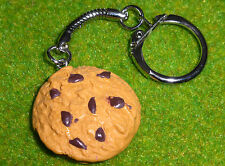 UNIQUE Handmade CHOCOLATE CHIP COOKIE KEYRING novelty BISCUIT bakery MARYLAND