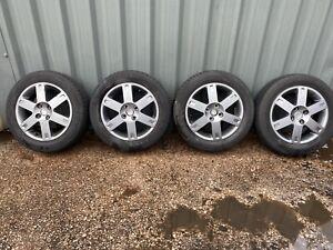 Suzuki Swift Mk2 Set Of 15 inch Alloy Wheel & 2 Good Tyres Metallic Grey