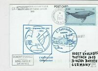 france southern + antartic lands french 2011 ship shipping stamps card ref 21242