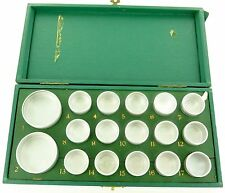 `RARE c1950's ROLEX WATCH 17 COMPARTMENT PARTS STORAGE BOX + CONTAINERS