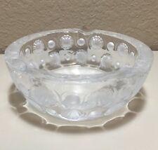 Vintage Art Deco Lalique Crystal Tokyo Ashtray Signed France VHTF