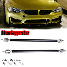 Black 20cm Adjustable Front Bumper Lip Air Splitter Support Rods Strut Tie Bar