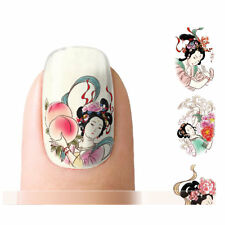 Nagelsticker Nail Sticker Tattoo Fingernagel Aufkleber Geisha Japan China