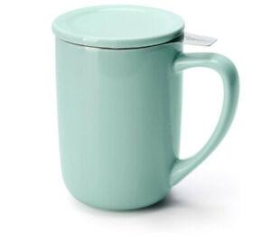 Tea Mug Infuser Lid Ceramic Loose Tea Brewing System
