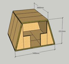 Structural Insulated Panel Glamping Pods, in DIY SIP Kit Form