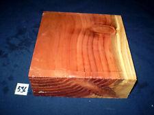Redwood Mammutbaum  Drechselholz   203 x 203 x 76 mm   Nr. 596