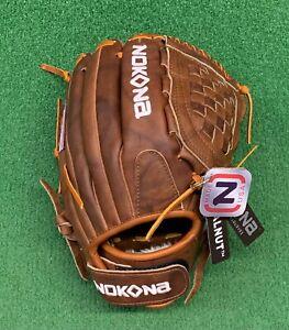 """Nokona Classic Walnut 12.5"""" Fastpitch Softball Glove W-V1250"""