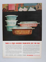 1963 Corning Pyrex Casserole Bake Ware Kitchen Decor Vintage Magazine Print Ad