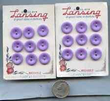 Vintage Sewing Button Lot of 24 Lansing Purple BU106 on Card