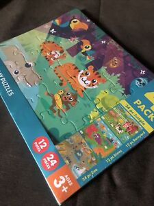 CHUCKLE & ROAR 4 TRAY PUZZLES 14 IN. X 10.75 IN. FOR AGES 3+ YEARS OLD Brand New