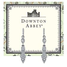 Downton Abbey Collection Silver Tone & Crystal Hook Earrings 17721 Free Shippin