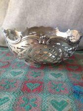 Dutch .833 Silver Pierced Bowl 100 Grams
