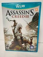 Assassin's Creed III 3 (Nintendo Wii U, 2012) GAME COMPLETE with MANUAL TESTED