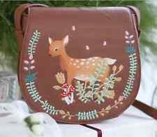 NUOVO AUTUMNAL Carino Marrone Cerbiatto Cervo Satchel Messenger Bag Handbag shopping bag
