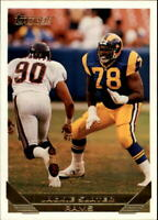 1993 Topps Gold Los Angeles Rams Football Card #134 Jackie Slater