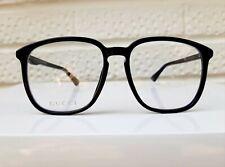 GUCCI Square Glasses Frames Eyewear Black NEW