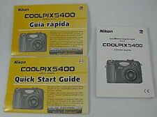 Nikon Coolpix 5400 Quick Start Guide AS IS