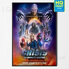 Crisis on infinite earth Crossover Movie Poster *LAMINATED OPTION* A4 A3