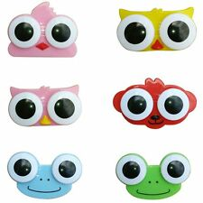 Adorable Hot Animal Owl Cleaning Cute Soak Frog Storage Contact Case Lens Box