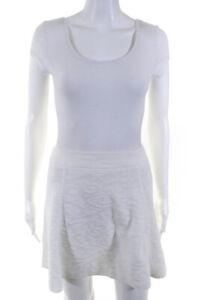 Theory Womens A Line Doreene B Mega Skirt White Size Small