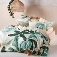 Linen House Terrarium Green Quilt Cover Set | Queen King Super King EURO Size