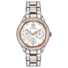 Citizen Eco-Drive Women's FD2016-51A Swarovski Crystal Two-Tone 37mm Watch