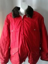 VINTAGE 50S 10-X RED HUNTING SPORT CLOTHING DEADSTOCK WINTER CRISP JACKET SZ 46