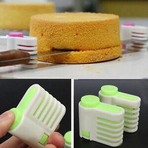 2 Pcs Cake Slicing Leveller Leveler Bread Cutter Slicer Cutting Decorator Tools