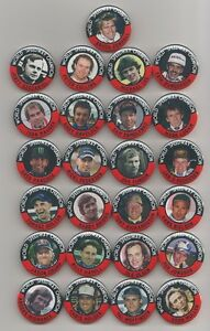 WORLD SPEEDWAY CHAMPIONS (SET 1) MAGNETS  X25    38mm  IN SIZE