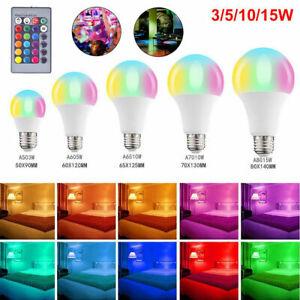 2-4X E27 RGB Bulb LED Light 16 Color Changing Remote Control Bayonet Screw Lamp