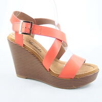 Women's Fashion Open Toe Buckle  Wedge Platform Sandal Shoes Size 6 - 11 NEW