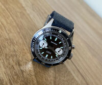 Vintage Wakmann Chronograph Watch Panda Dial - Fully Serviced! (Pre- Breitling)