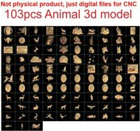 103 pieces Animal 3d model STL relief for cnc carving relief artcam