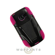 Samsung R480 Freeform 5 Hybrid Case w/ Stand Black/Hot Pink Protector Guard