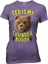 Authentic Ted The Movie Ted Is My Thunder Buddy Bear Juniors Girls T Shirt Xl