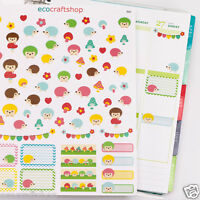 RABBIT GIRL Study Exam Homework Cartoon Condren Erin Filofax Planner Stickers K5