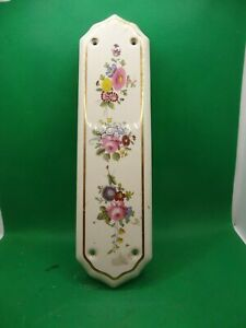 Painted Porcelain Door Push Plate
