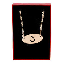 DAAL - 18 KT Rose Oro Placcato Collana alfabeto arabo-Anniversario Nuziale Regali
