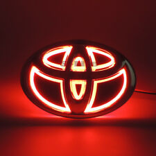 Illuminated 5D LED Car Tail Logo Light Badge Emblem For Toyota RAV4 REIZ Red
