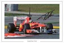 Fernando Alonso Ferrari F1 Fórmula Uno Autógrafo Foto firmada impresión