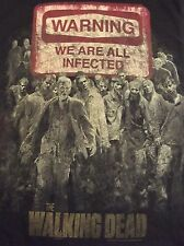The Walking Dead Black T Shirt Sz S Zombies Walkers We Are All Infected