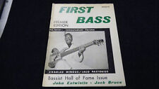 FIRST BASS MAGAZINE Premiere Edition 1989 Jack Bruce