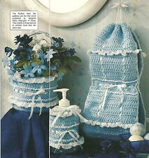 *Ruffled Bath Set crochet PATTERN INSTRUCTIONS